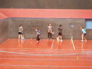Real Tennis coaching session