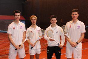 Charlie Drew (Durham)-Semifinalist Oliver Taylor (Durham) - Champion, Matt Shaw (Cambridge) - Finalist, Matt Brooks (Durham) - Semifinalist